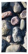 Stone Wall At Gallup Park Beach Towel