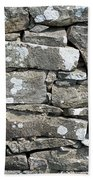Stone Wall Detail Doolin Ireland Beach Towel