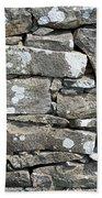 Stone Wall Detail Doolin Ireland Beach Towel