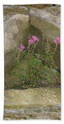 Stone Wall Determination Beach Towel