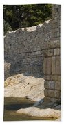 Stone Wall In Foca Beach Towel