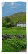 Stone Wall Lake District - P4a16012 Beach Towel