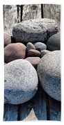 Stones And Old Wood 3  Beach Towel