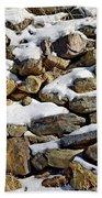 Stones And Snow Beach Towel