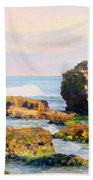 Stones In The Sea Beach Towel