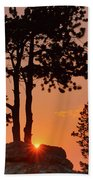 Stop Right Here - Rocky Mountain Np - Sunrise Beach Towel
