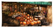 Store - Hoboken Nj - The Fruit Market Beach Towel