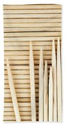 Stored Wooden Toothpicks Beach Towel