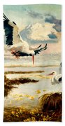 Storks II Beach Towel