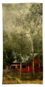 Storm Approaching White Birch Cottage Beach Towel