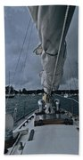 Storm At Put-in-bay Beach Towel