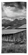 Storm In B And W Beach Towel