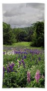 Storm In The Lupine Beach Towel