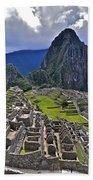 Storm Inbound To Machu Picchu Beach Towel