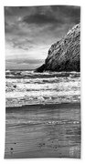 Storm On The Rocks Beach Towel