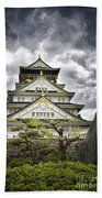 Storm Over Osaka Castle Beach Towel