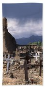 Storm Over Taos Graveyard Beach Towel