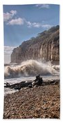 Storm Tide Cliffs End Beach Towel