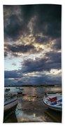 Storms At Dusk In La Caleta Cadiz Spain Beach Towel