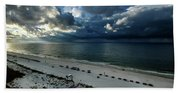 Storms Over The Gulf Of Mexico Beach Towel