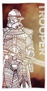 Stormtrooper - Star Wars Art - Brown Beach Towel