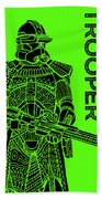 Stormtrooper - Green - Star Wars Art Beach Towel
