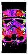 Stormtrooper Mask Rainbow 10 Beach Towel