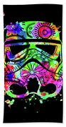 Stormtrooper Mask Rainbow 8 Beach Towel