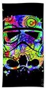 Stormtrooper Mask Rainbow 9 Beach Towel