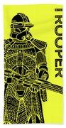 Stormtrooper - Yellow - Star Wars Art Beach Towel