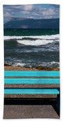Stormy Aegean Sea Beach Sheet