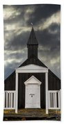 Stormy Day At The Black Church Beach Towel