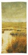 Stormy Marsh Beach Towel
