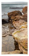 Stormy Rock Beach Beach Towel