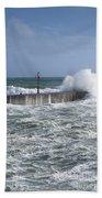 Stormy Seas Beach Towel