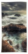 Stormy Seascape Beach Towel