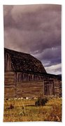 Stormy Sunset At Moulton Barn Beach Towel