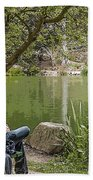 Stow Lake Beach Towel by Kate Brown
