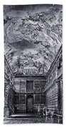 Strahov Monastery Philosophical Hall Bw Beach Towel