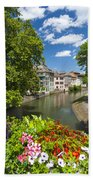 Strasbourg, Half-tmbered Houses, Petite France, Alsace, France Beach Towel