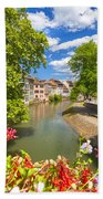 Strasbourg, Half-tmbered Houses, Petite France, Alsace, France Beach Towel