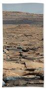 Stratified Rock On Mars Beach Towel