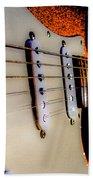 Stratocaster Pop Art Tangerine Sparkle Fire Neck Series Beach Towel