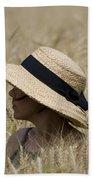 Straw Hat Beach Towel