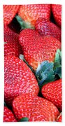Strawberries 8 X 10 Beach Towel