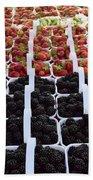 Strawberries And Blackberries Beach Towel