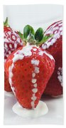 Strawberries And Cream Beach Towel