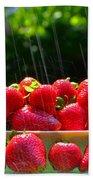 Strawberries And Summer Showers Beach Towel