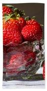 Strawberries In The Sun Beach Towel