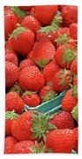 Strawberries Jersey Fresh Beach Towel